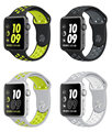 sport silicone Band for apple watch band Series 2 38mm 42mm Black Volt Silver White Bracelet Strap for Apple Watch Nike band