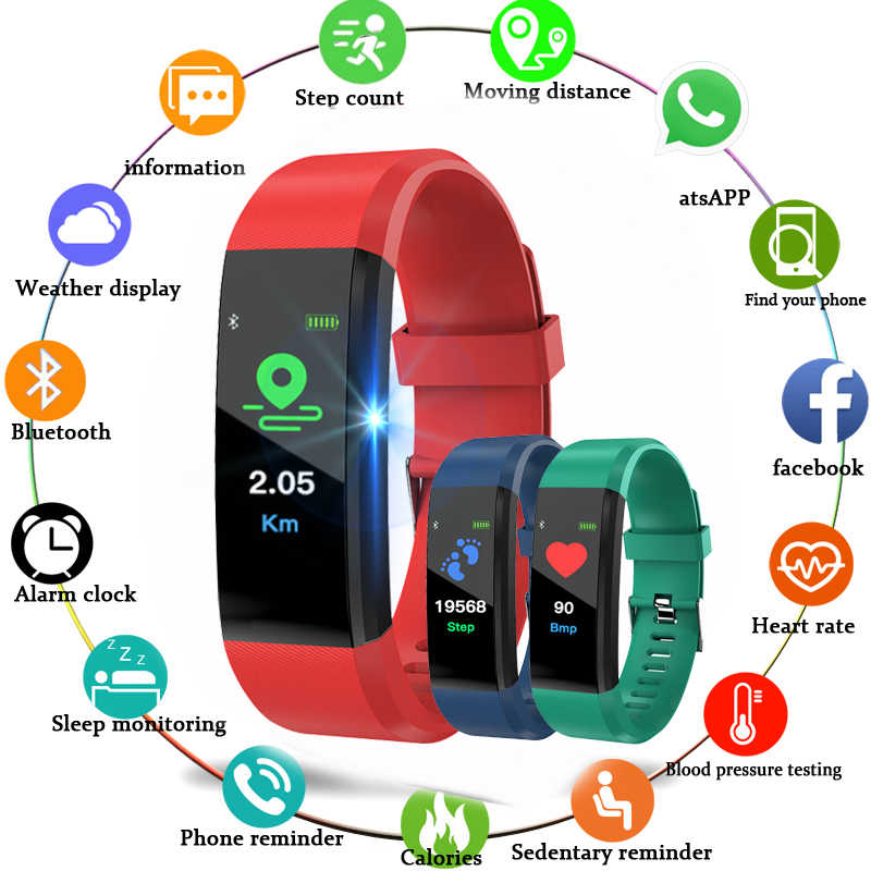 Digital Watch Sport Smart Bracelet Fitness Tracker Message Content Caller ID Display Bluetooth Connection for Men Women  watches