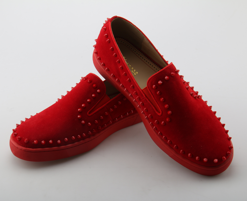 Flats Sole Chinelo As Festa On Svonces Vermelho Slip De Suede Casuais Moda Homens Sapatos Marca Picture Spikes Boat Grosso as Fumar Picture Loafers qxwxPz4Cp