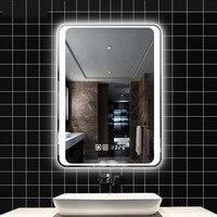 Смарт зеркало led ванная комната зеркало настенное зеркало в ванной ванная комната, Туалет противотуманных фар зеркало с Bluetooth Сенсорный экр