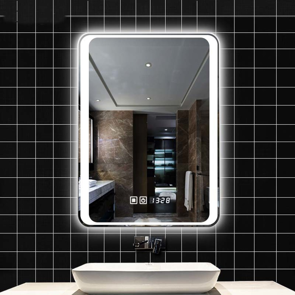 Smart Mirror Led Bathroom Wall Toilet Fog Light With Bluetooth Touch