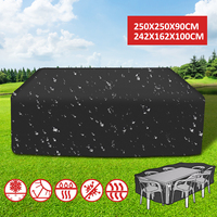 2 Sizes Outdoor Furniture Cover Patio Garden Rattan From UV Bird Waterproof Furniture Protector Rain Snow Chair Table Sofa Cover
