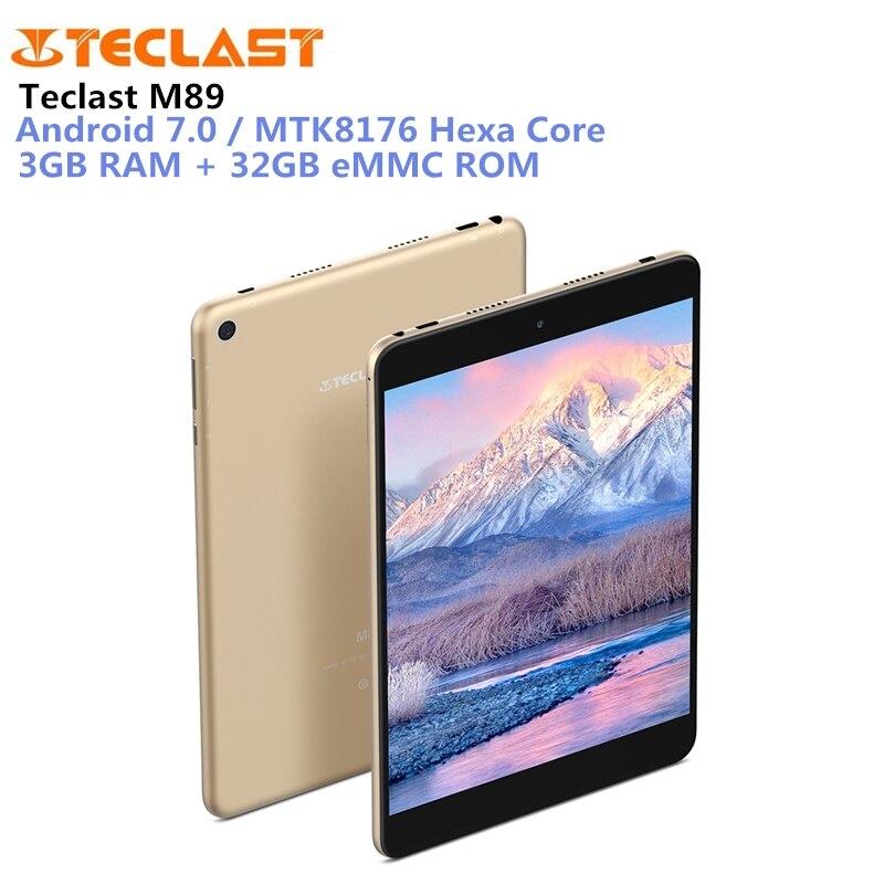 M89 Teclast Tablet PC 7.9 polegada 3 MTK8176 Hexa Núcleo 2.1 ghz Android 7.0 gb RAM gb ROM eMMC 32 dupla Câmeras Dual WiFi HDMI Tipo C-