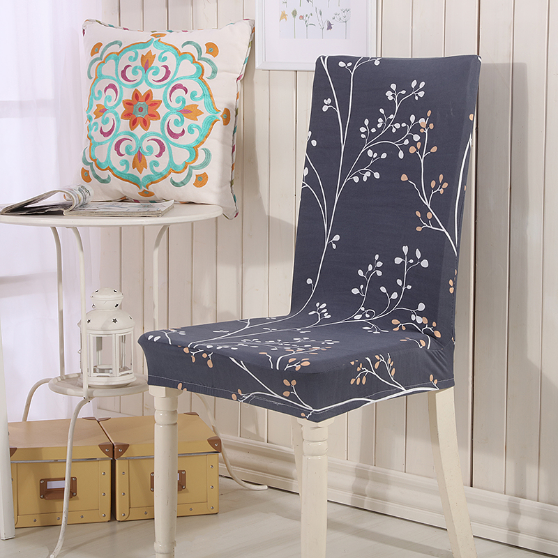 Floral Print Blue Flower Chair Cover Home Dining Chair