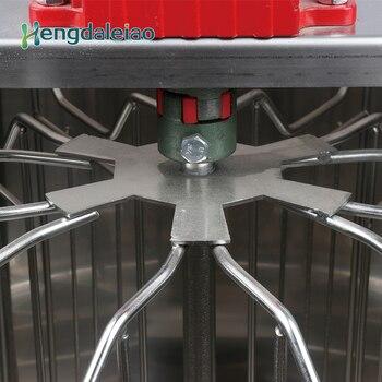 Équipement Apicole/outils Manuel En Acier Inoxydable 6 Cadres Abeille Miel Centrifugeuse Machine/extracteur De Miel Avec Trois Jambes Rouges