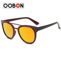 Oobon Promotion Rushed Adult 2017 Luxury Sunglasses For Women Sun Glasses Coating Lens Vintage Round Sunglass Retro Personality