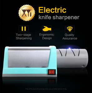 Image 2 - XYj Knife Sharpener Electric Diamond & Ceramic Kitchen Knife Sharpener 2 Stage Grinder Sharpening Ceramic EU Plug