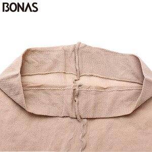 Image 5 - BONAS 6 יח\חבילה סיטונאי נשים גרביונים 15D ניילון ליידי קיץ חדש גבוהה גמישות ספנדקס גרביונים נקבה חלקה רך גרביונים