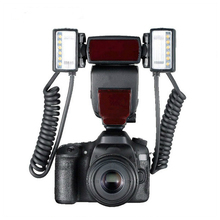 Camera Flash YN24EX Suooprt TTL Twin Lite Macro Flash Speedlite with Dual 2pcs Flash Head + 4pcs Adapter Rings for Canon Camera(China)