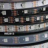 1 м/3 м/5 м WS2813 светодиодная Пиксельная полоса с двойным сигналом 30/60/144 пикселей/светодиодов/м, Обновлено WS2812B, DC5V,IP30/IP65/IP67, черный/белый PCB