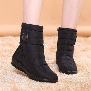 Image 5 - BEYARNE בתוספת גודל עמיד למים גמיש אישה מגפי באיכות גבוהה חם פרווה בתוך שלג מגפי חורף נעלי אישה calzado mujer