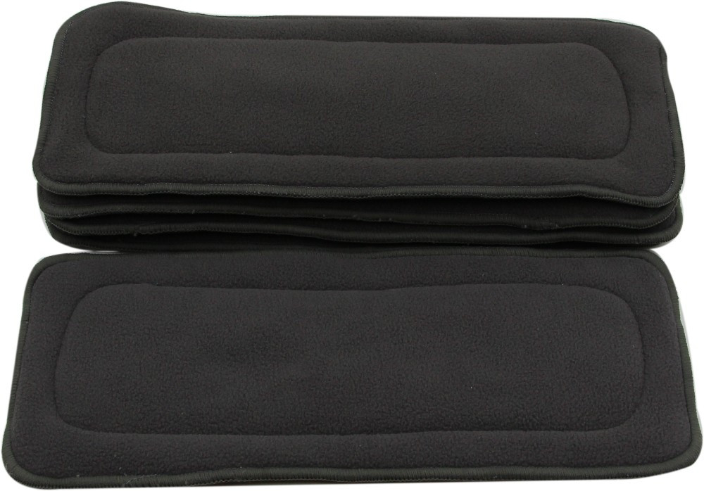 Image 5 - Ohbabyka 10pcs Cloth Diaper Inserts 4 Layers Bamboo Charcoal Pocket Diaper Inserts Liners for Baby Cloth Nappy Couches Lavables-in Baby Nappies from Mother & Kids