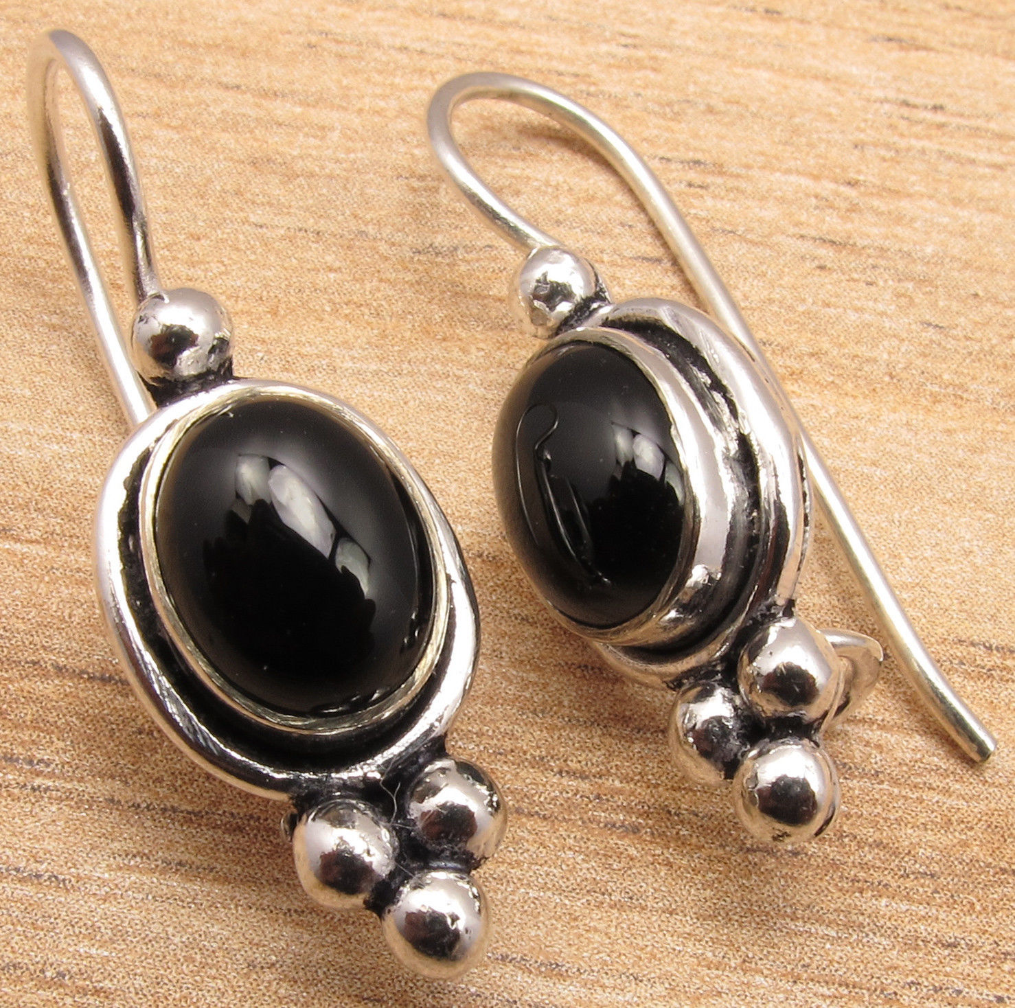 Silver Plated BLACK ONYX ONLINE SHOPPING Earrings Jewelry BESTSELLER GIFT