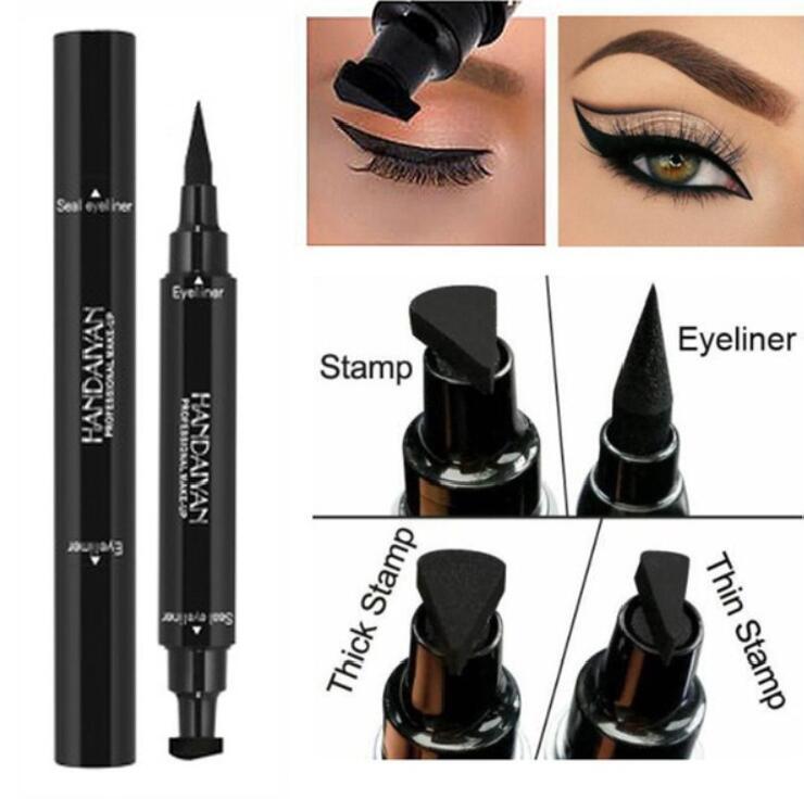 Eyebrow Enhancers Lower Price with 1 Pcs Charming Eye Winged Eyeliner Seal Wing Waterproof Mascara Cream Dye Eyebrow Pen Makeup Tool Long Lasting Color Natural Beauty Essentials