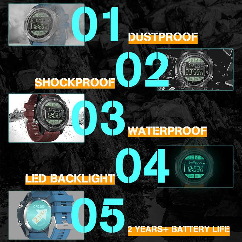 Image 3 - 2019 Upgrade Zeblaze VIBE 3 S 3S Rugged Outdoor Smart Watch 50M Waterproof 5ATM Smartwatch Real time Weather Fitness Tracker Men-in Smart Watches from Consumer Electronics