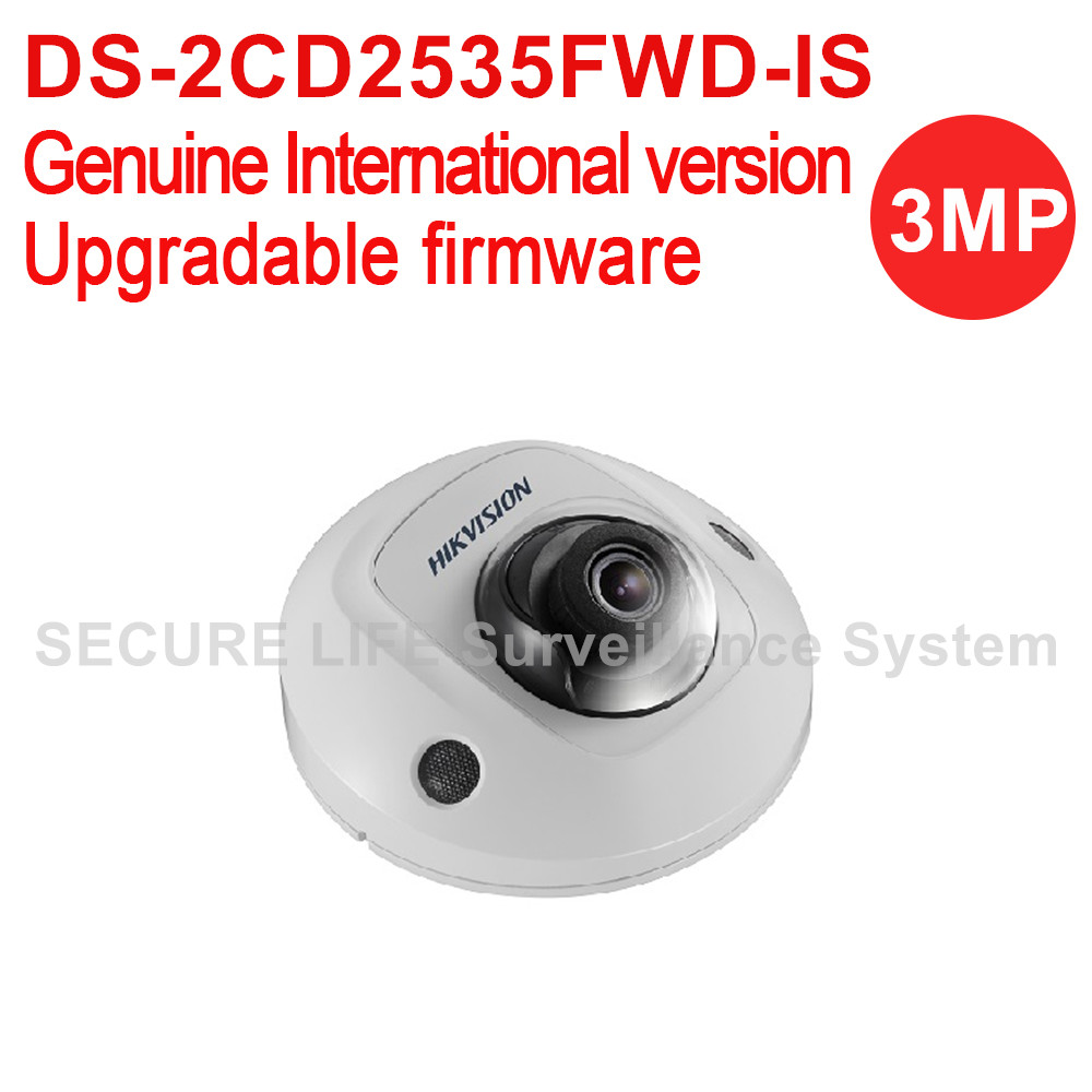 Hikvision DS-2CD2535FWD-IS International version 3MP EXIR Mini Dome Network IP security Camera POE, wifi, 10m IR, H.265 multi language ds 2cd2135f is 3mp dome ip camera h 265 ir 30m support onvif poe replace ds 2cd2132f is security camera