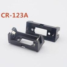 цена на 900pcs/lot MasterFire Plastic Shell 3V CR123A 16340 Button Cell Battery Sockets Holder Storage Case Cover Box Black