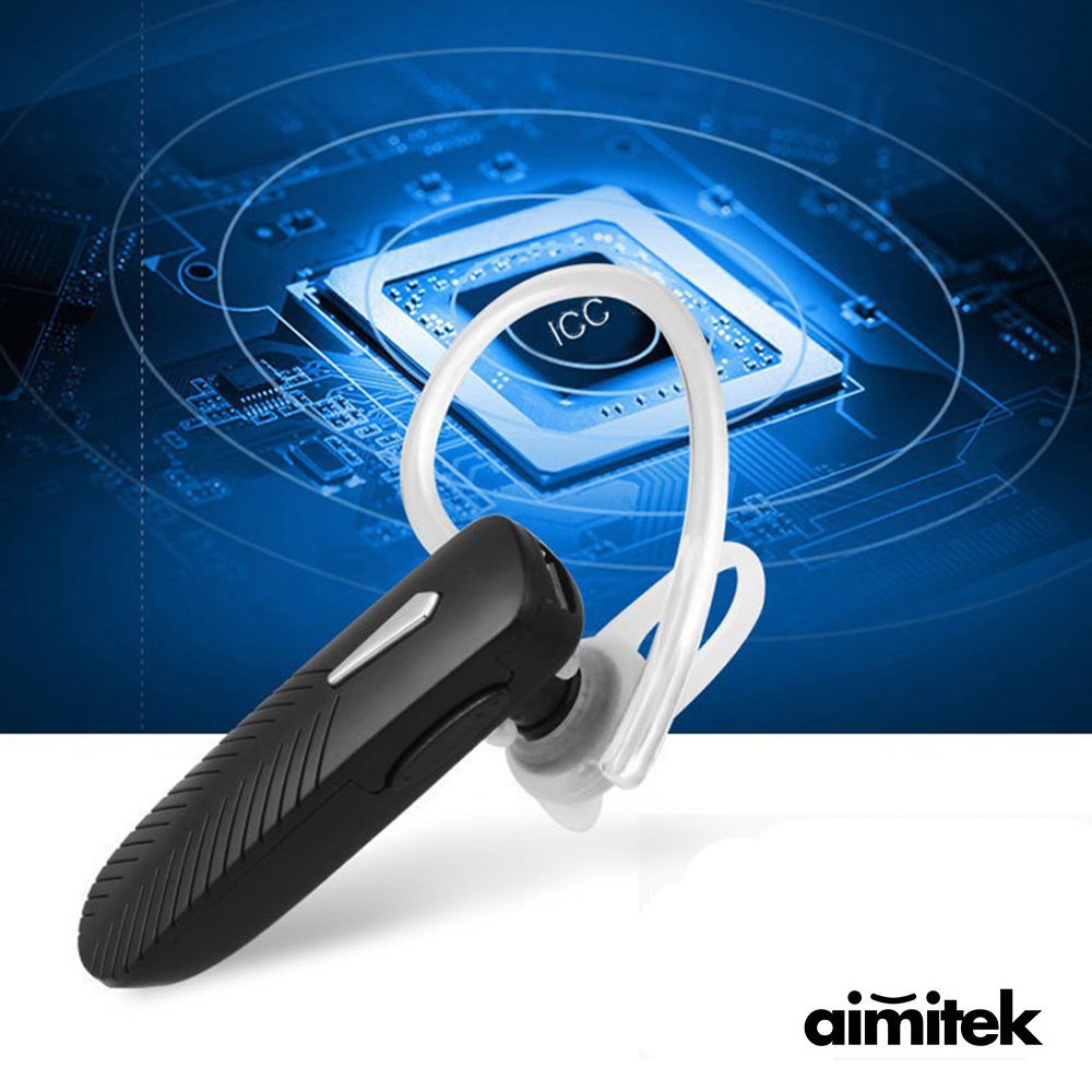 Aimitek Mini Bluetooth Earphone In-ear Small Sports Wireless Earbud Headset Business Earpiece With Mic Handsfree for Cell Phone egrincy x11 mini bluetooth car earphone wireless handsfree in ear headsets usb magnetic charging with usb socket mic for iphone