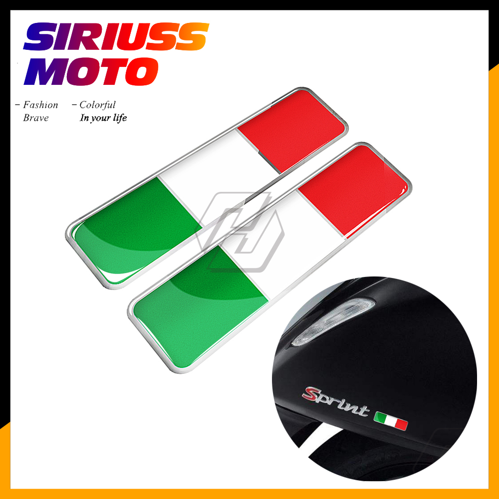 3D Resin Italy Sticker Italia Decal For Motorcycle Car AVT Bike Decals For PIAGGIO VESPA