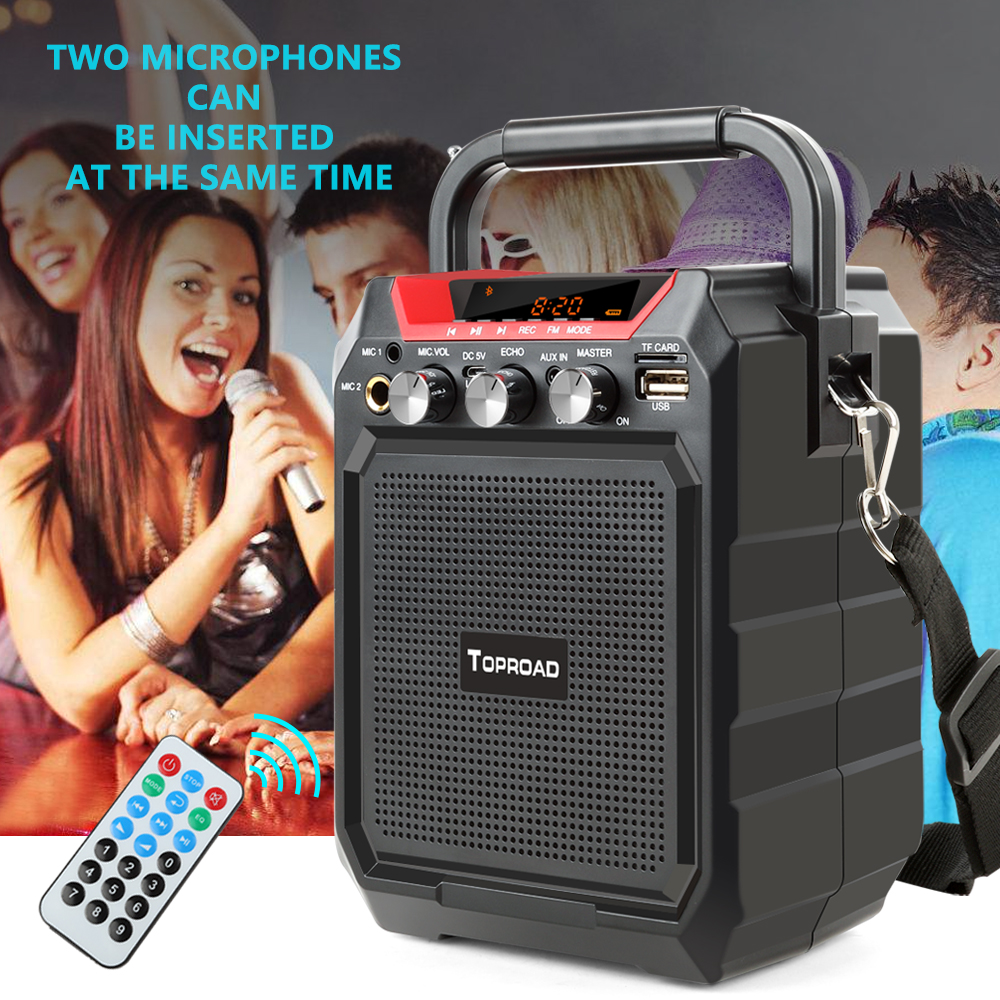 TOPROAD Portable Wireless Bluetooth Speaker With 3D Sound System Microphone And Remote Control 6