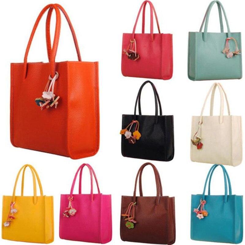 Sleeper #5005 Fashion Elegant Girls handbags leather shoulder bag candy color fl