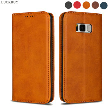 купить PU leather Flip case for Samsung Galaxy S8 S9 S10 S10e Lite Stand wallet protective Case for Samsung Galaxy Note 8 9 10 Pro Case дешево