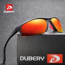 DUBERY Brand Design Square Semi Rimless Polarized Sun Glasse