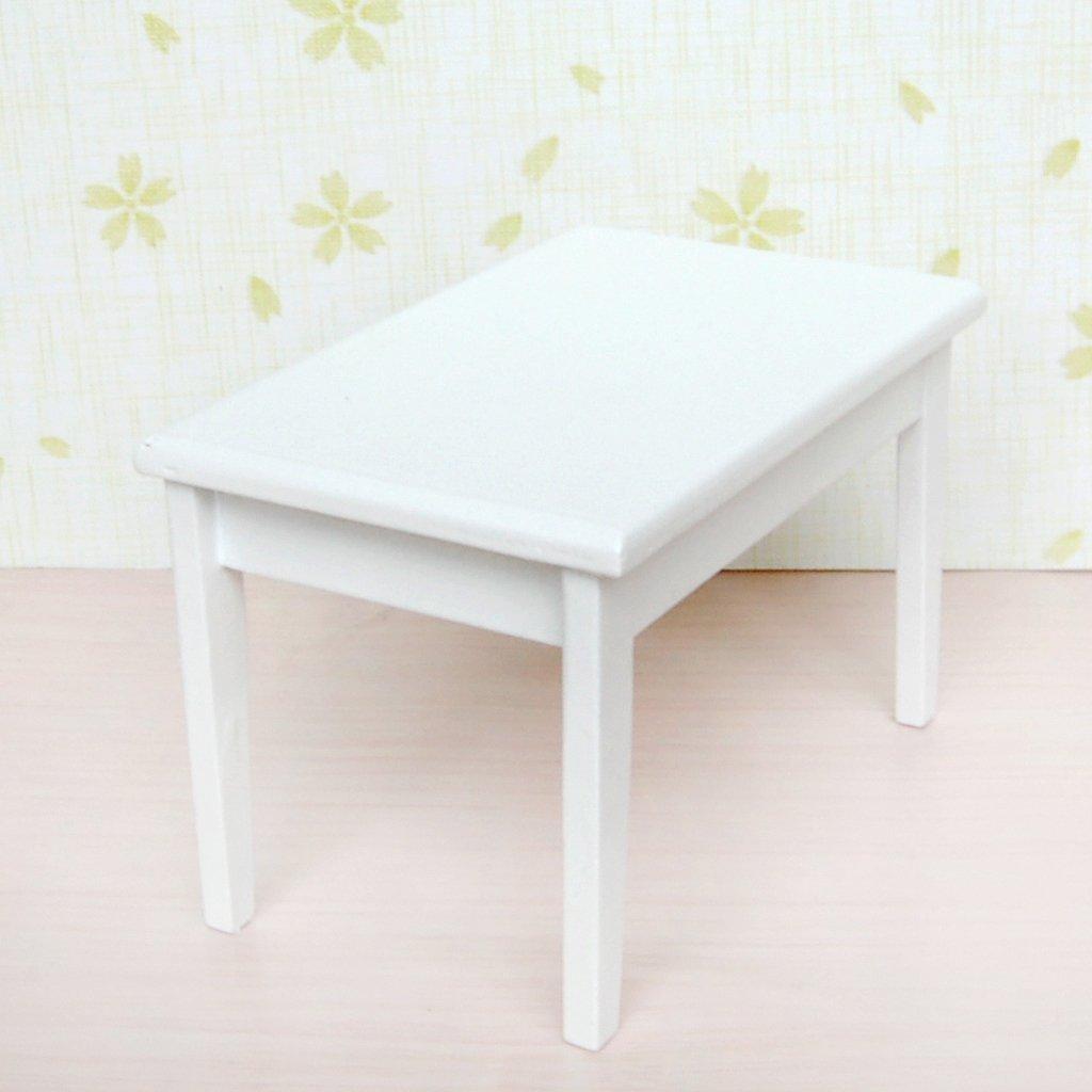 Casas de Boneca mesa de uma manjedoura branco Dimensões : 10.2 x 6.5 x 6.5 cm