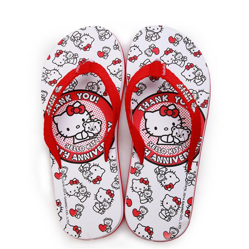 Oukahui Hello Kitty dibujos animados nuevas mujeres playa ocio encantadora  casa Sandalias mujer Zapatos Hello Kitty Niñas Zapatos nuevo 2018 en Flip  Flop de ... 9f0f7dd89f5e