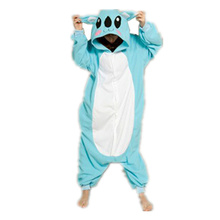 DOUBCHOW Adults Womens Blue Koala Costume Pajamas Jumpsuit Halloween Cosplay Onesies Unisex Teenagers Girls Cartoon Lounge Wear