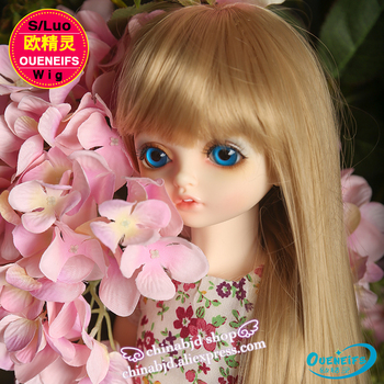 Wig For Doll BJD free shipping size 9-10 inch 1/3 handmade diy wig girl long hair bjd sd doll in beauty and health with bangs 2