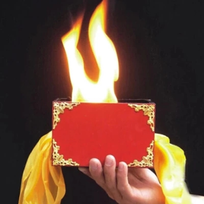 Silk Through The Fire/Fire Box - Magic Prop,Whosale,Fire,Props,Comedy,Ring,Magic Tricks,Gimmick,Magia Toys,Gadget,Joke,Classic цена