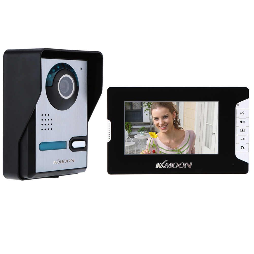 US Plug Video Doorbell 7 Doorbell Camera LCD Video Door Phone Intercom Doorbell Kit Ring Video Doorbell Intercom with Night Vision