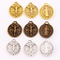 Saint Jesus Benedict Nursia Patron Medal Crucifix Cross Charms Pendants L1658 7pcs 24x21mm Antique Silver/Gold/Bronze