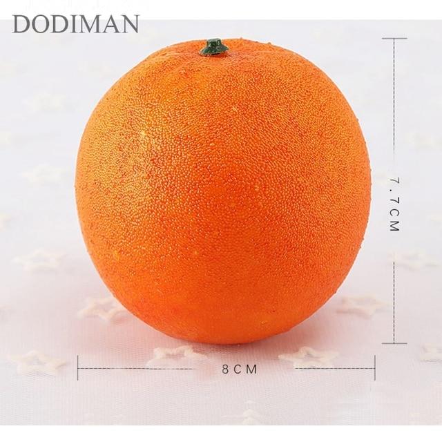 시뮬레이션 과일 오렌지 거품 모델 장식 교육 장비 사진 소품 홈 호텔 장식