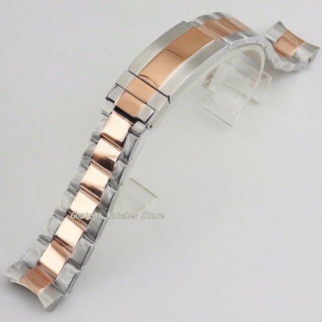 20mm 316L Solid Rose Gold Rvs Armband Horloge Armband Horlogeband Kit 40mm Horloge