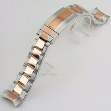 20mm 316L Solid Rose Gold Stainless Steel Bracelet Watch Bracelet Watchband Kit 40mm Watch