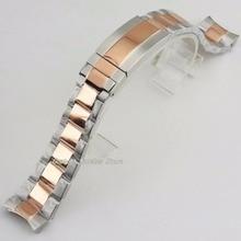 20mm 316L oro rosa sólido pulsera de acero inoxidable reloj pulsera reloj Kit 40mm reloj