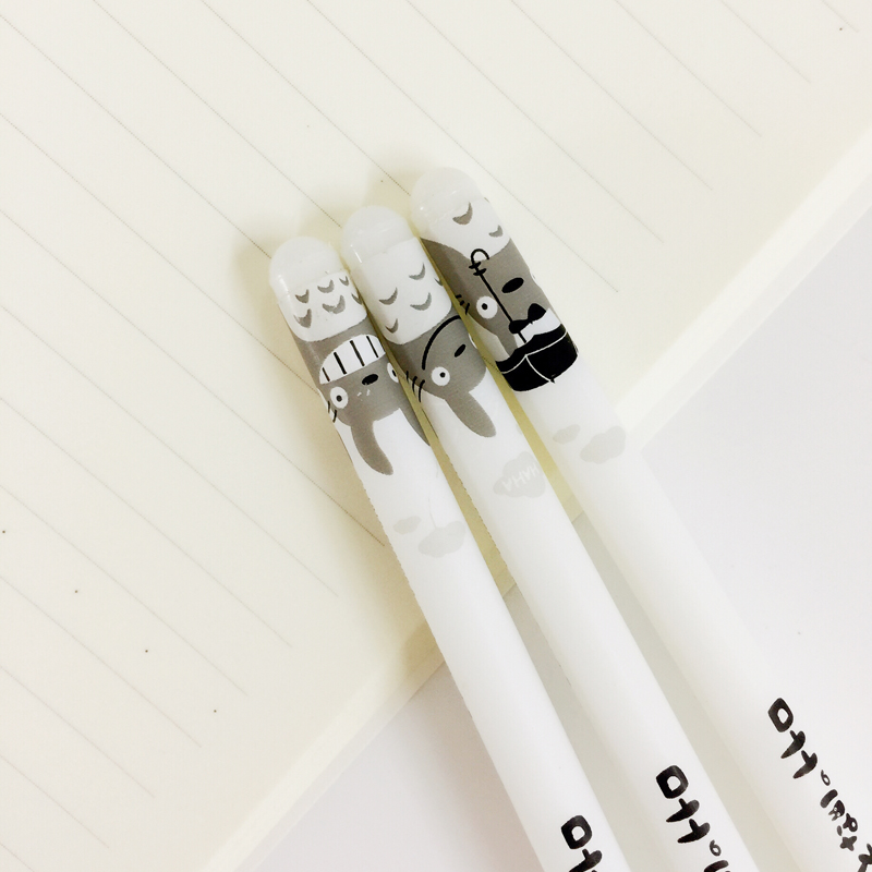 P31 4X Cute Kawaii Totoro Gel Pen Writing Signing Pen School Office Supply Student Stationery Rewarding