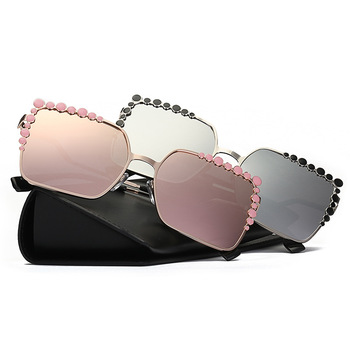 Hot Cool 2017 Square Hip Hop Fashion Brand Designer Sunglasses Women Mirror Sun Glasses Lady Flat Oversized Eyeglasses 369M 3