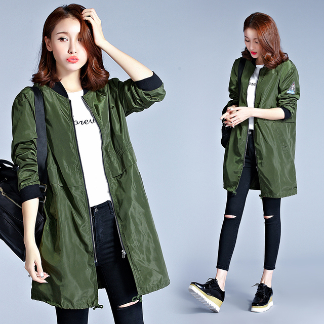 Aliexpress.com : Buy Autumn long jackets and coats 2017 spring ...