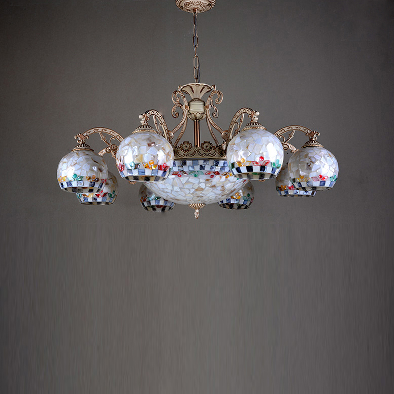 light tiffany chandelier restaurant study bedroom living room light pastoral retro country style - Tiffany Chandelier