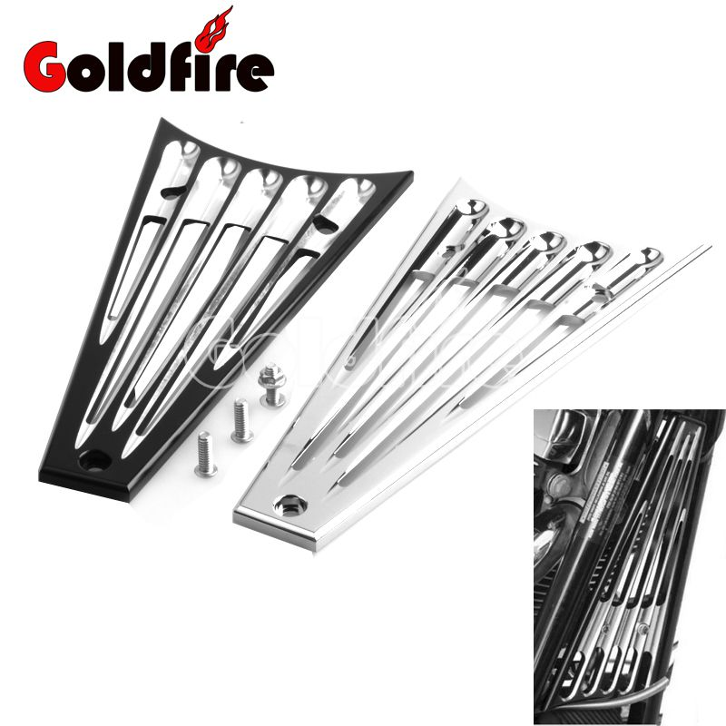 CNC Coupure Profonde Cadre Grill Moteur Garde Grille Couverture pour Harley Touring Street Electra Tri Glide Road King Trike Freewheeler 14-17