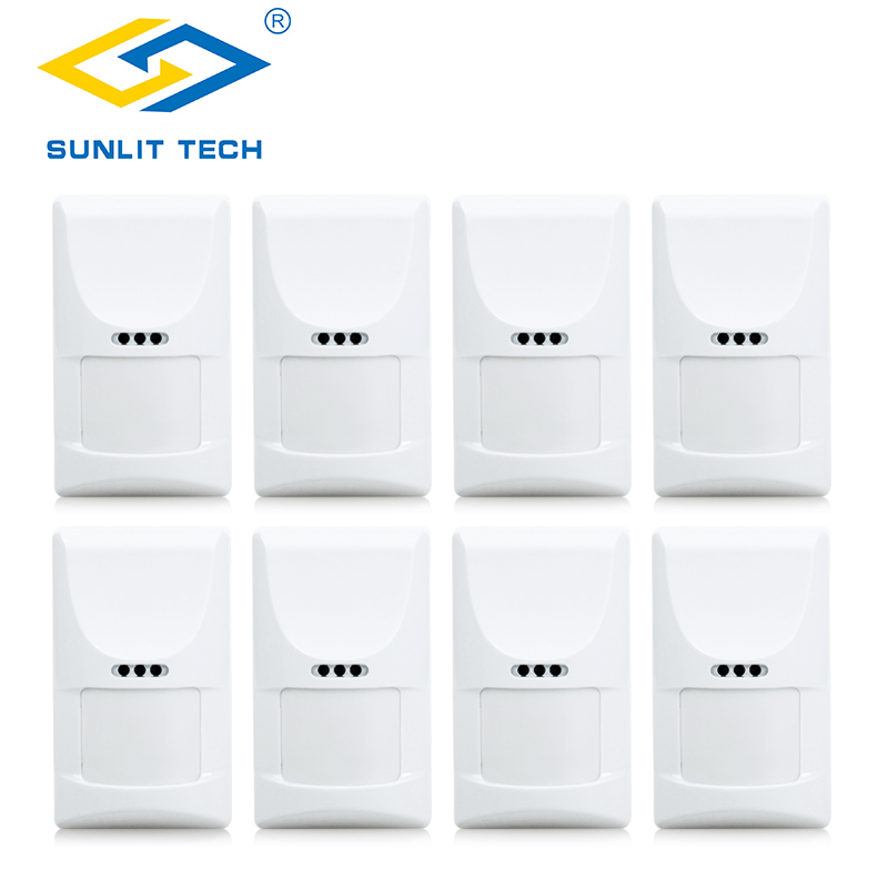 8pcs Wireless Pet Pir Motion Sensor Detector Anti Tamper Infrared Pir Detectors Alarm Acceessory For Home Office Security Alarm In Many Styles