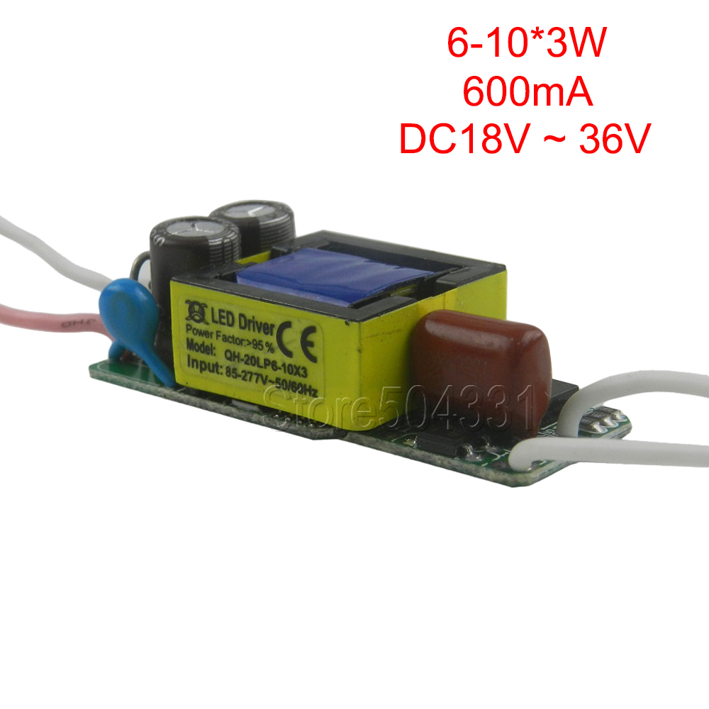 1pcs AC110V 220V for E27 E14 GU10 LED Light 600mA 6-10x3W 7x3W 9x3W 18W 21W 24W 30W LED Driver Power Supply Lighting Transformer