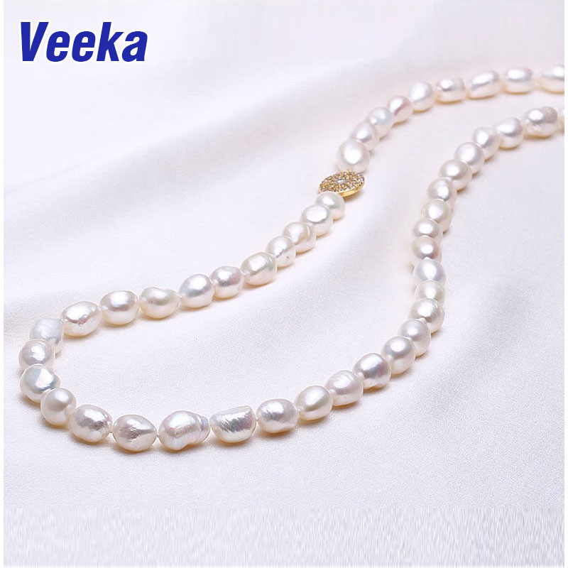 iVeeka jewelry freshwater baroque pearl necklace new fashion brand cultured pearls long necklace font b women