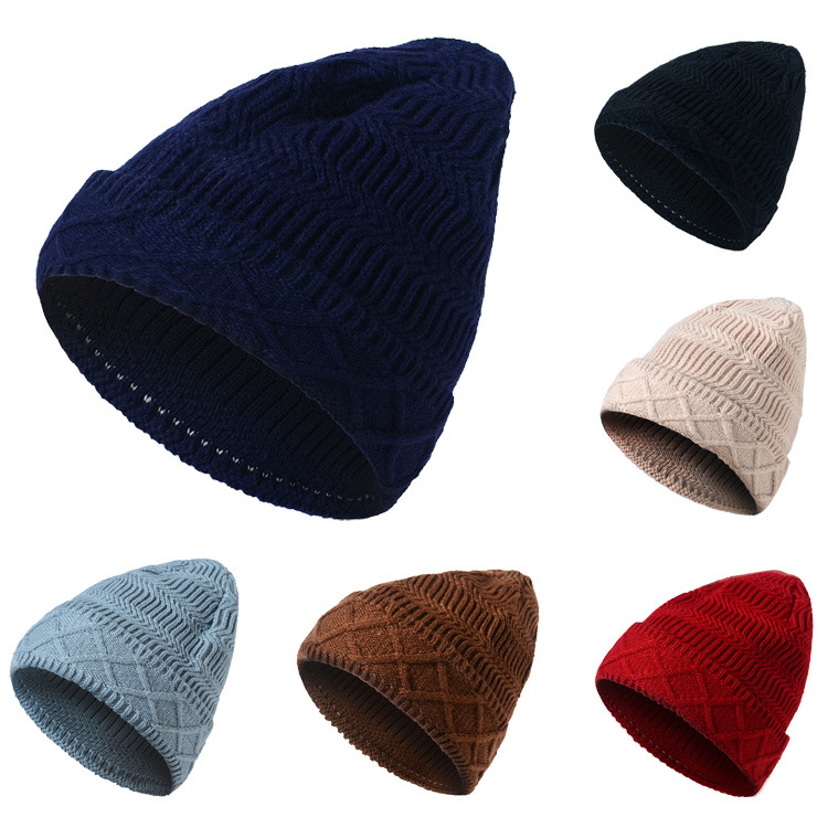 2017 Skullies Beanies Winter Hat for Women Warm Hat Fashion Knitting Warm Cap Men Warm Wool Hat Cap Leisure Winter Hats h8127