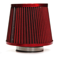 New Universal Car Air Filter Vehicle Induction Kit High Power Mesh Cone Red Finish