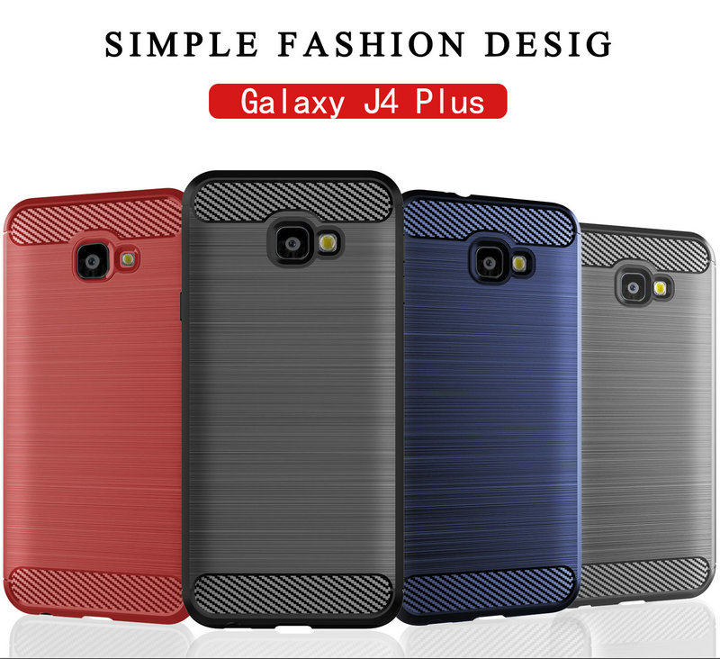 for Samsung Galaxy J4 Plus J4+ SM-J415F J415F Silicone Armor Bumper Shockproof Cover Cases