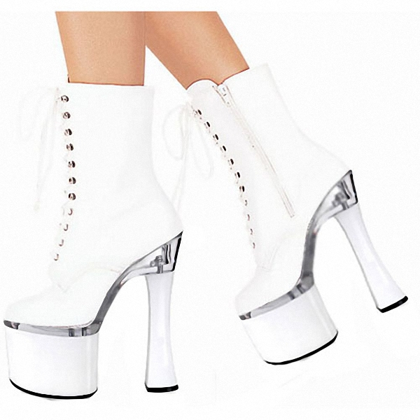 18cm High-Heeled Shoes The Bride Wedding Shoes Dinner Low Thick Heel Boots 7 Inch Round Toe Boots Formal Platform Dress Shoes bride of the water god v 3